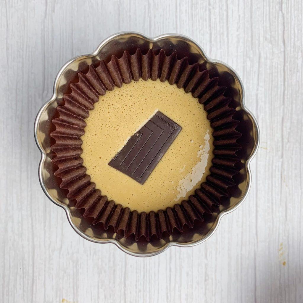 麵糊中放入巧克力