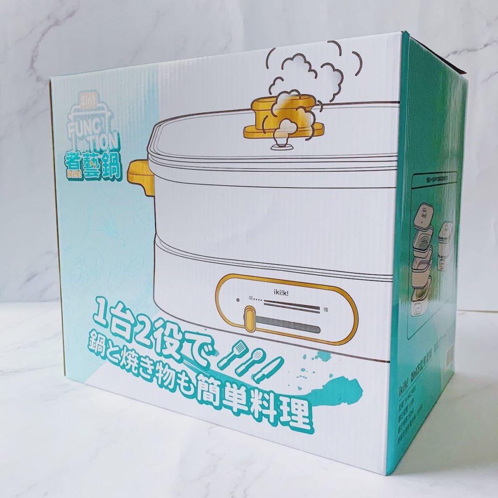 ikiiki  方形煮藝鍋 外盒示意圖